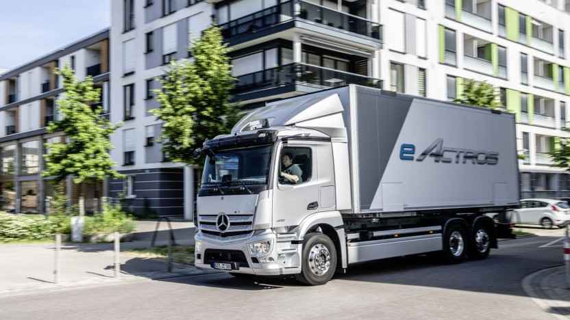 Elektrischer Laster eActros von Mercedes-Benz