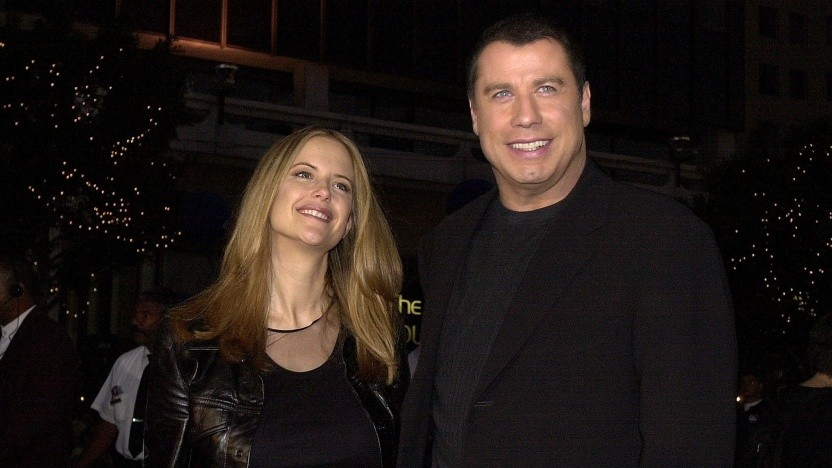 Kelly Preston und John Travolta bei der Premiere von Battlefield Earth