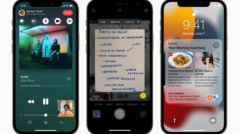 iOS 15 führt Shareplay in Facetime, Livetext mittels On-Device-Intelligenz, überarbeitete Benachrichtigungen und mehr ein.