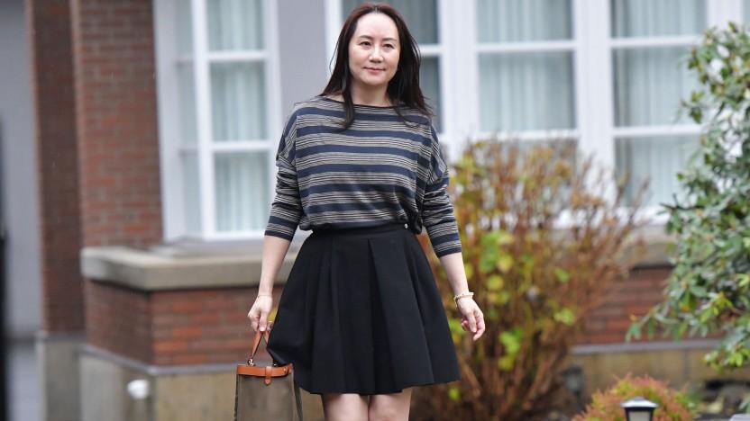 Meng Wanzhou verlässt ihr Zuhause in Vancouver auf dem Weg zum Obersten Gerichtshof von British Columbia.