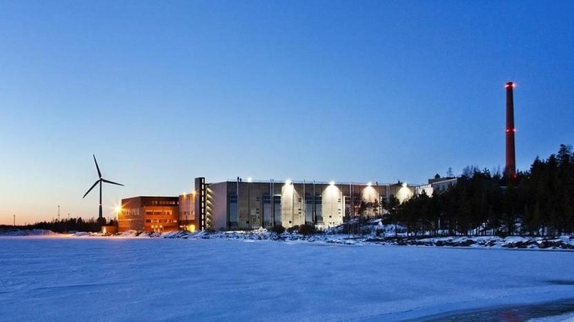 Googles Rechenzentrum in Hamina in Finnland - neben Windkraft dürfte hier auch Atomkraft zur Stromversorgung genutzt werden.