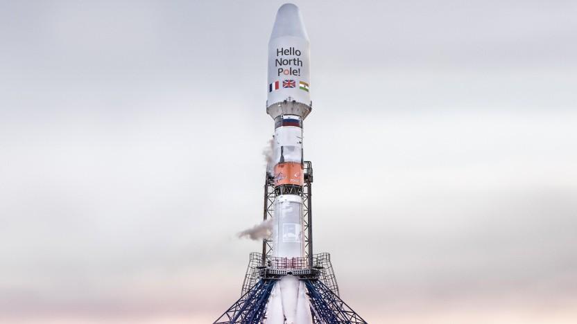 Die Rakete vor dem Start