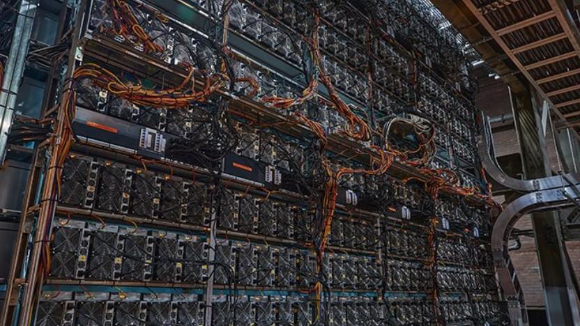 Ungewöhnliche Innenausstattung für ein Kraftwerk: So sieht es bei Greenidge aus.