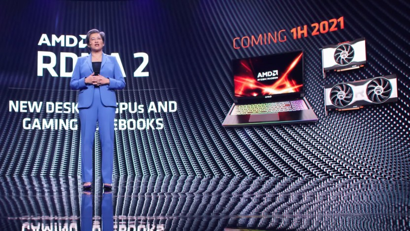 AMD-Chefin Lisa Su hatte kleinere RDNA2-Karten für 1H/2021 angekündigt.