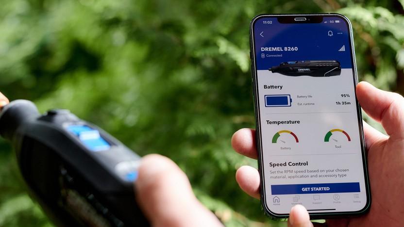 Der Dremel 8260 kann per Bluetooth an eine App angebunden werden.