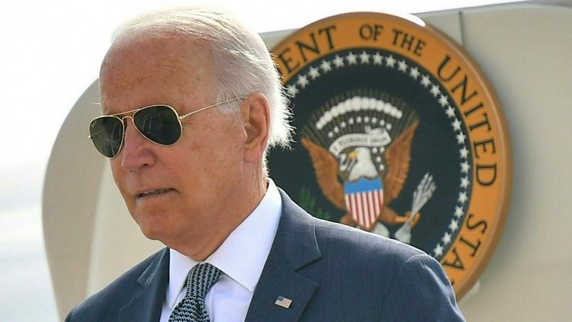 US-Präsident Joe Biden am 9. Juli 2021 vor der Air Force One