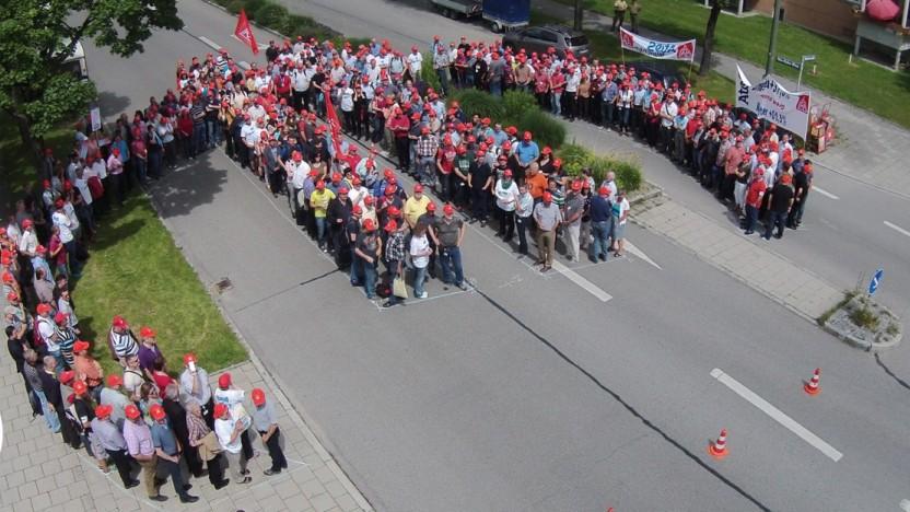 Proteste gegen Stellenabbau bei Atos