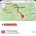 Deutsche Bahn: Google Maps zeigt Echtzeitfahrplan von Zügen