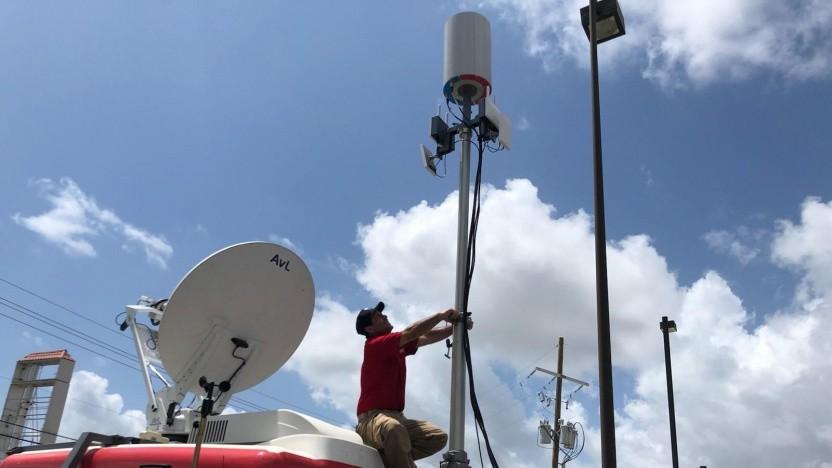 Verizon Response Team nach dem Hurrikan Sally