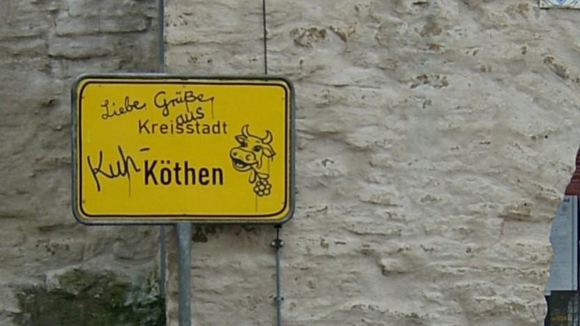 Die Kreisverwaltung von Anhalt-Bitterfeld in Köthen steht derzeit still.
