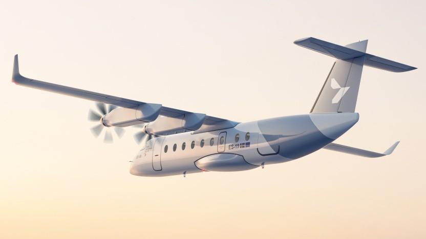 Das batteriebetriebene Flugzeug ES-19 soll 400 Kilometer weit kommen.
