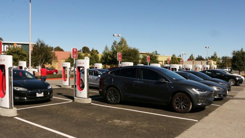 Tesla-Ladestation in Kalifornien: Texas ist besonders teuer.