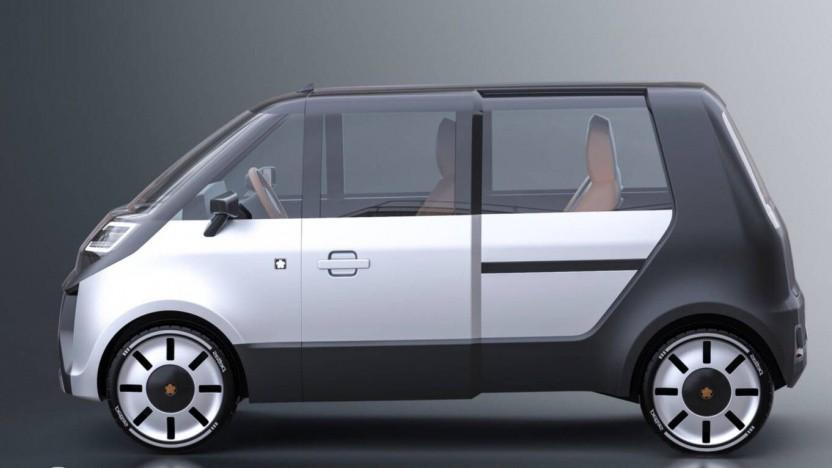 Elektrischer Microvan Mai 2.0: ein- und aussteigen durch Schiebetüren