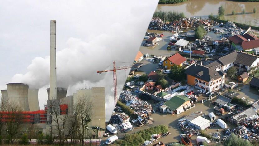 Der Ausstoß von Treibhausgasen ist dafür verantwortlich, dass Starkregen und Überschwemmungen (hier 2010 in Slowenien) mehr und stärker werden.