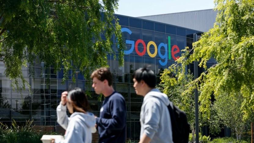 Google-Campus vor der Pandemie