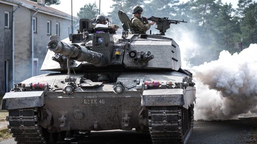 Challenger 2 des britischen Royal Tank Regiments