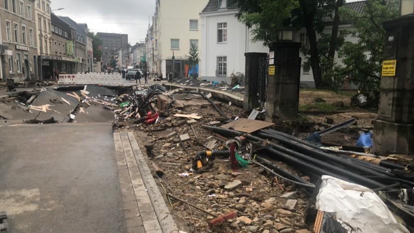 Zerstörung in einem der betroffenen Orte