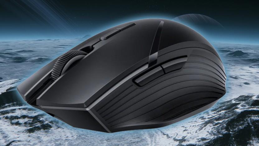 Die Wireless Mouse GT ist für rechte Hände geformt.