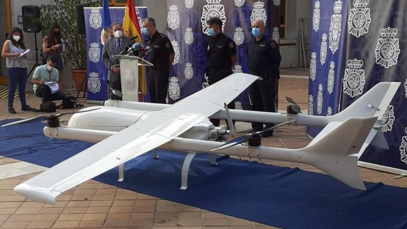 Die beschlagnahmte Drohne