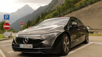 Probefahrt mit EQS: Mercedes schüttelt Tesla ab, aber nicht die Klimakrise