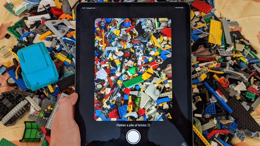 Brickit scannt die eigene Legosammlung ein.