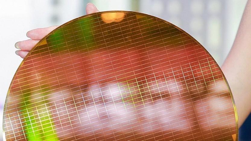 Wafer mit 3D-NAND-Flash-Speicher mit 64 Layern