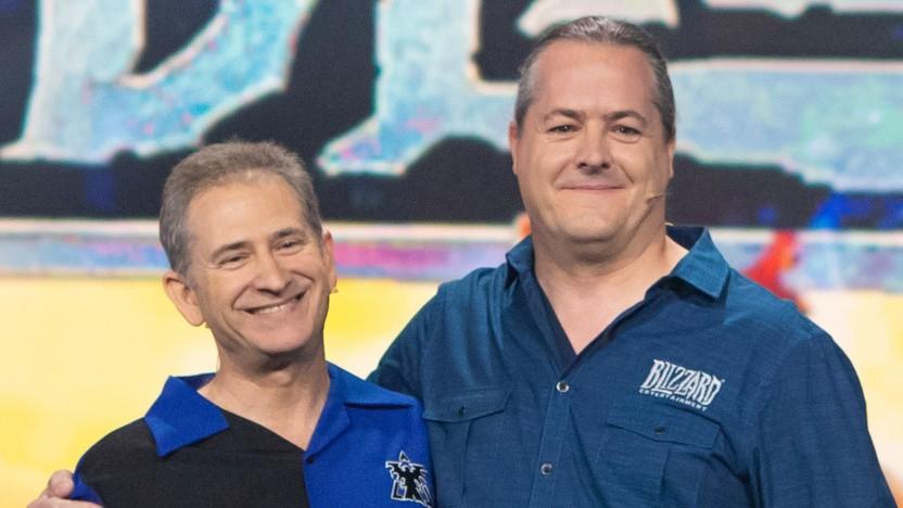 Mike Morhaime (l.) und J. Allen Brack auf der Blizzcon 2018