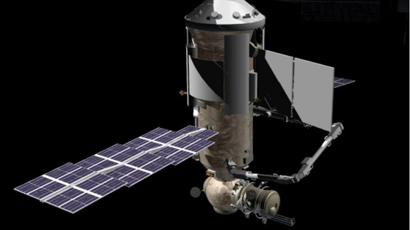 So soll Nauka einmal an der ISS angedockt aussehen.