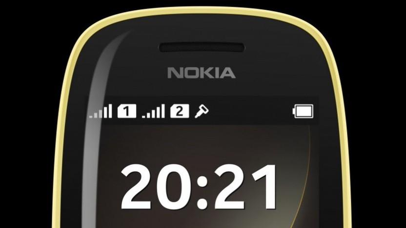 Das Nokia 6310 in Gelb