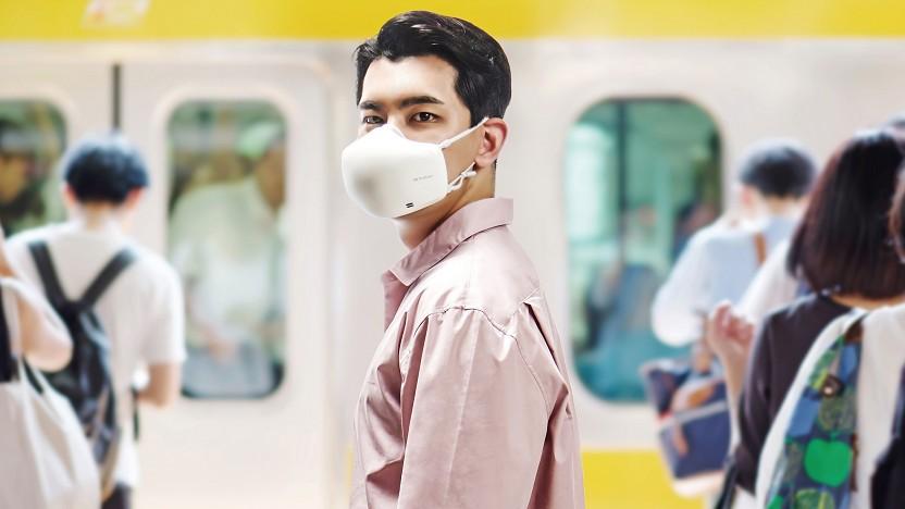 LGS Puricare-Maske soll auch beim Sport genug Luft bieten.