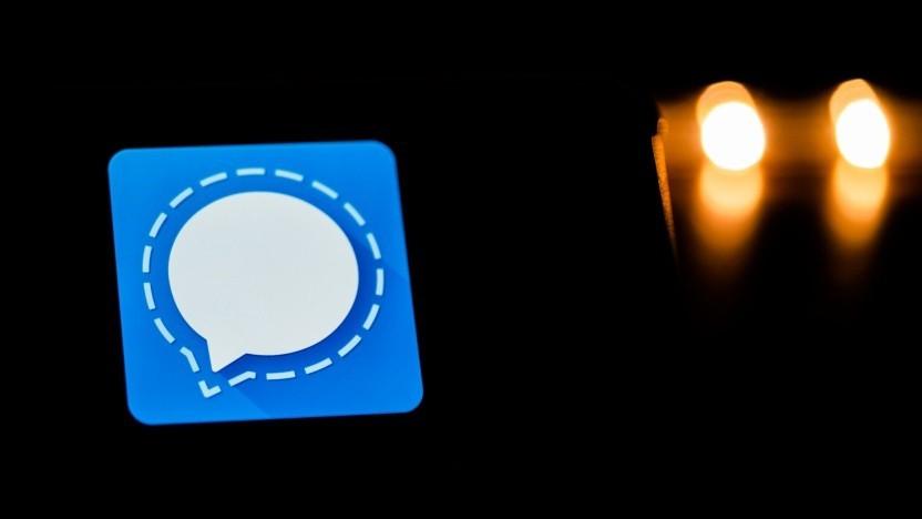 Das Logo des Messengers Signal