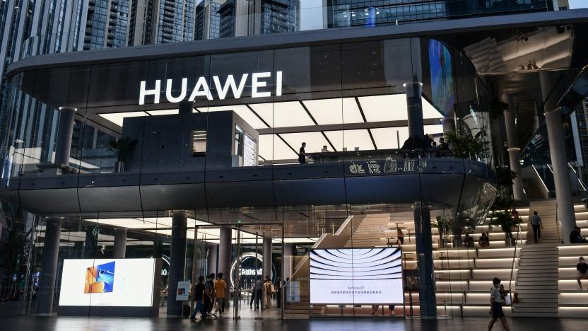Der Flagship-Store von Huawei in Shenzhen