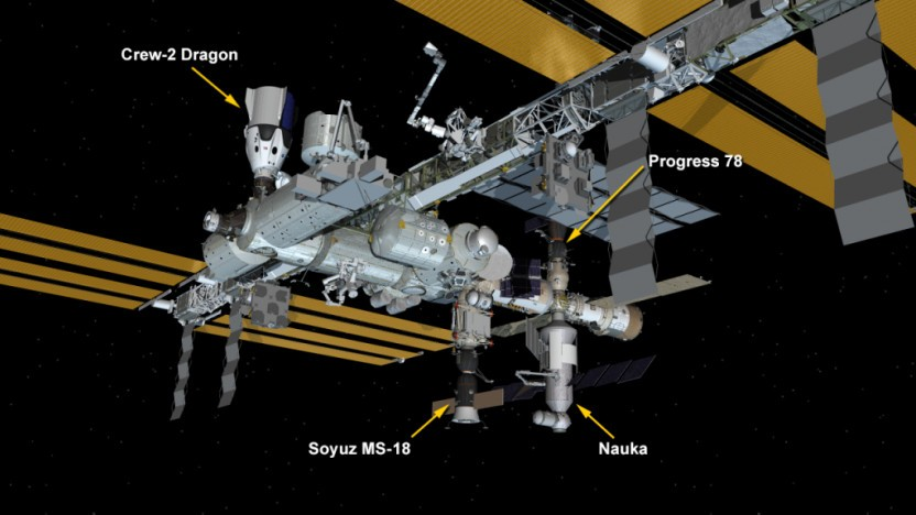 ISS mit dem neuen Modul Nauka