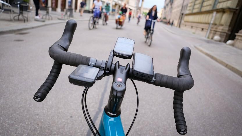 Fahrrad-Computer von Wahoo, Garmin und Hammerhead bei Vergleichsfahrt