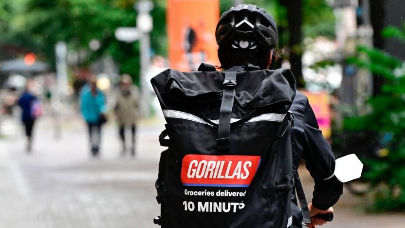 Ein Fahrer von Gorillas