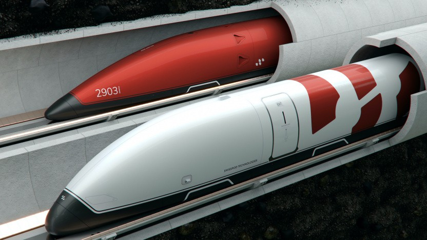 So könnte der Schweizer Hyperloop aussehen.
