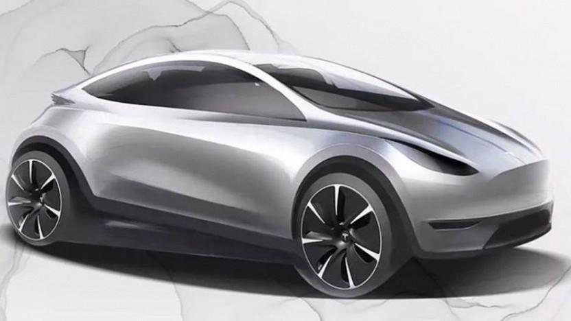 Tesla-Skizze zu einem günstigen Elektroauto