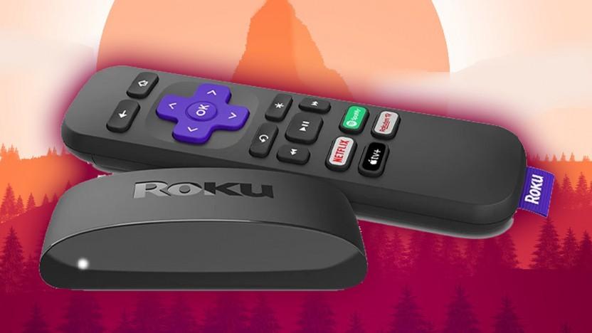 Der TV-Stick Roku wird in eine HDMI-Buchse eingesteckt.