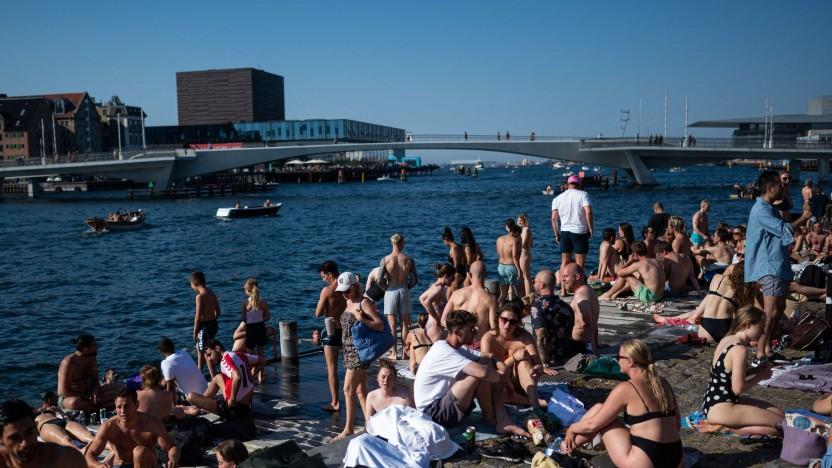 Badespaß in Kopenhagen: relativ mildes Klima dank der Atlantischen Umwälzströmung