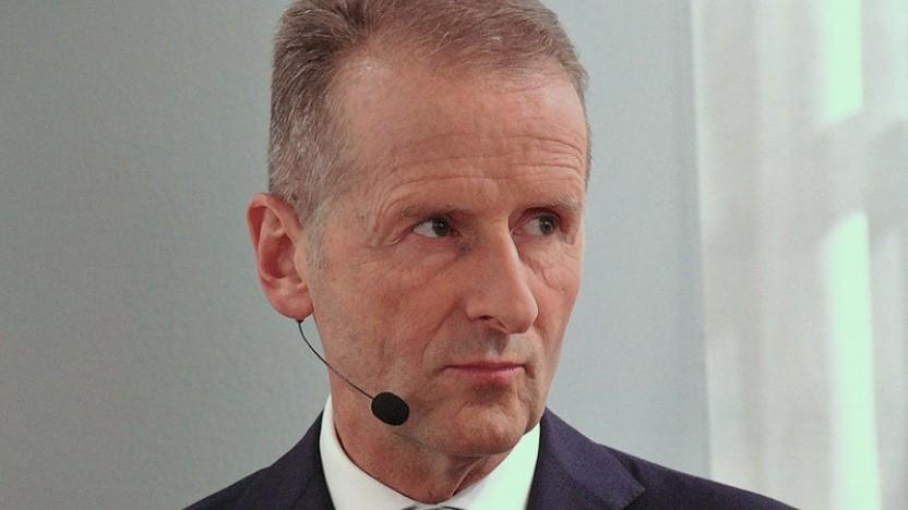Herbert Diess auf der IAA 2019