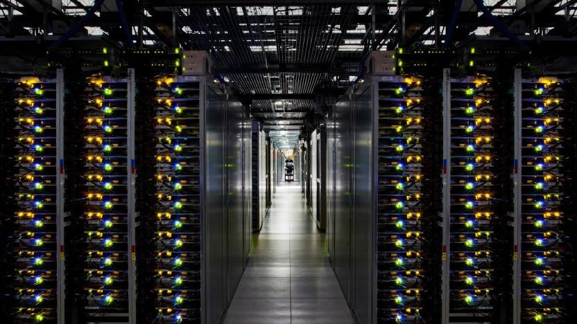 Rechenzentrum der Google Cloud: der einsame Admin