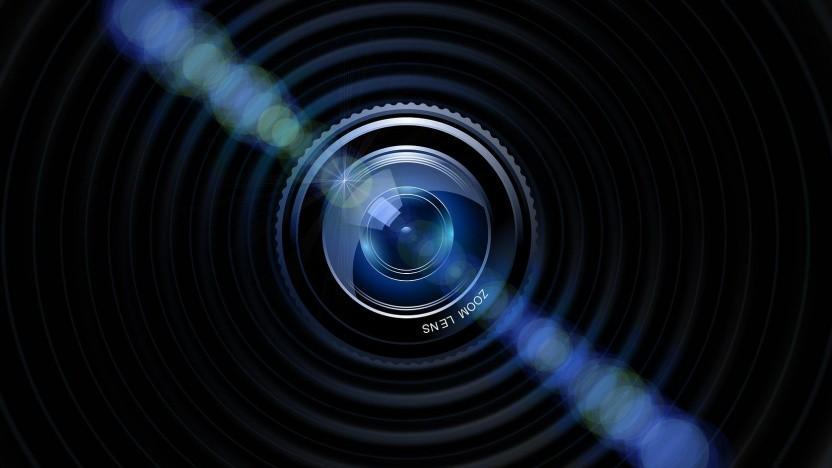 Eine Kameralinse