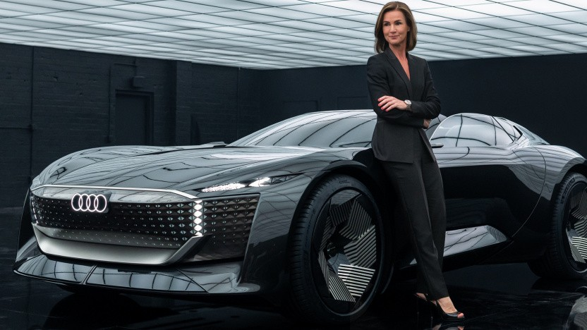 Skysphere Concept mit Hildegard Wortmann, Mitglied des Audi-Vorstands.