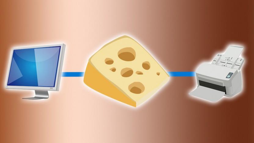 Der Windows-Drucker-Spooler macht Käse.