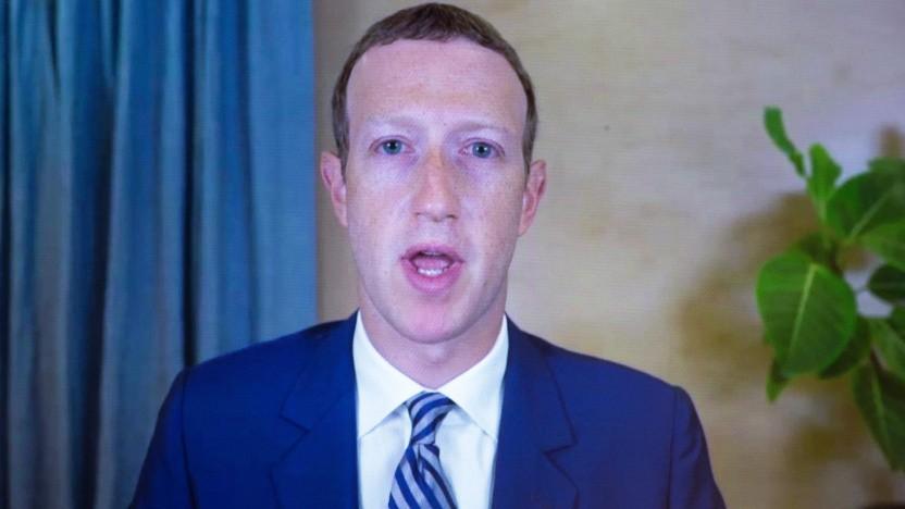 Facebook-Chef  Mark Zuckerberg bei einer Anhörung im Oktober 2020 in Washington