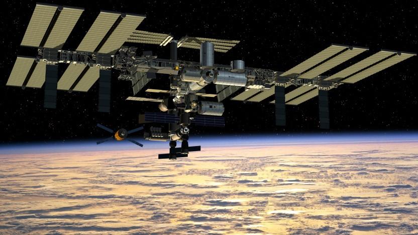 Künstlerische Darstellung der Internationalen Raumstation ISS