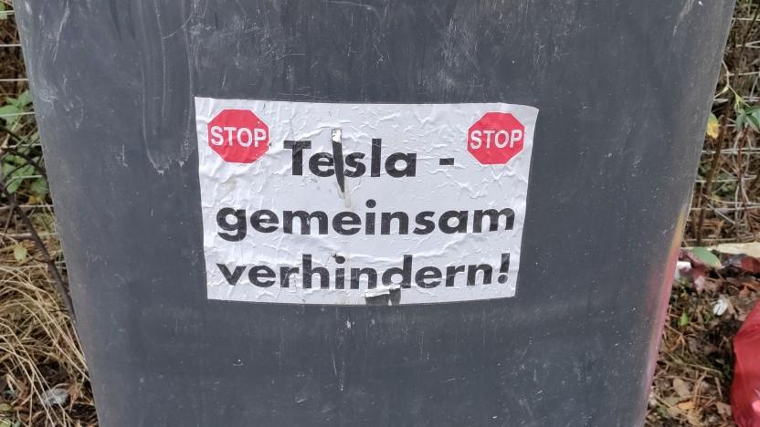 In der Region Grünheide gibt es weiterhin Widerstand gegen die Tesla-Fabrik.