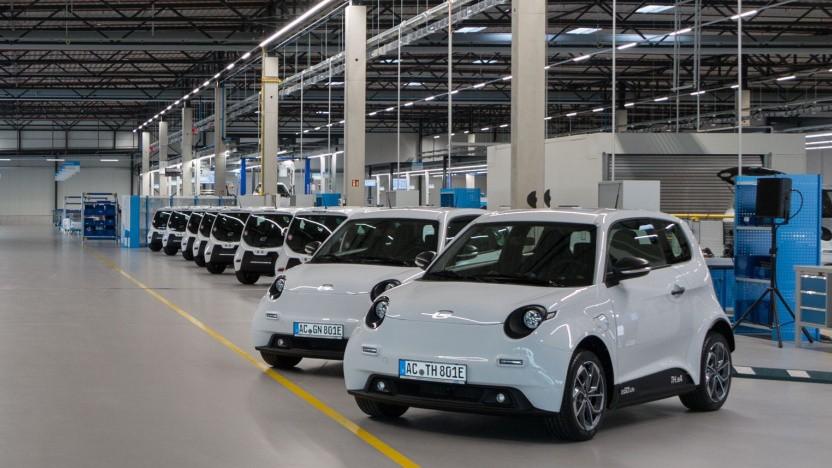 Die Produktionshallen von e.Go Mobile in Aachen