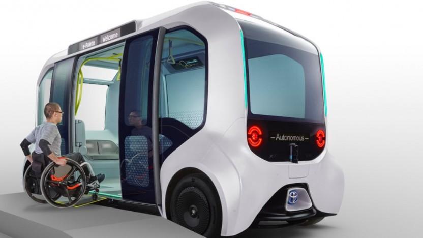Der E-Palette fährt autonom und mit elektrischem Antrieb.