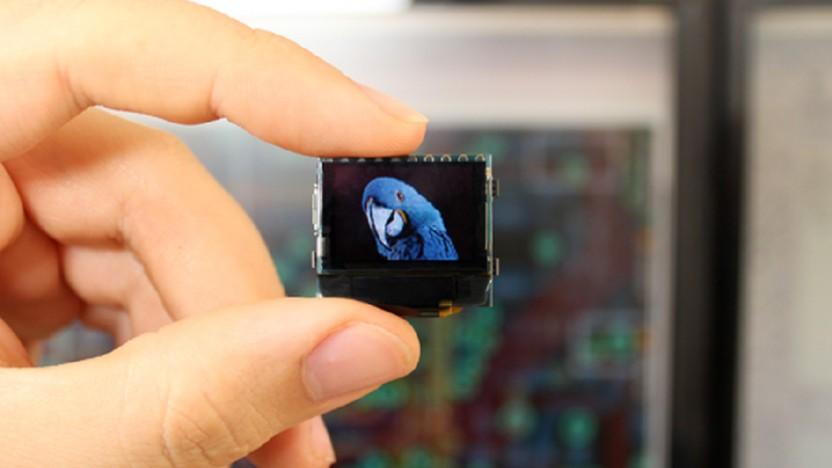 Der Pocuter ist ein kleiner Computer mit Display.